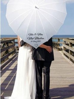 Personalised XL Love Heart Umbrella